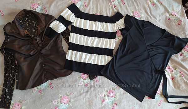 Лот вещей рубашка, блузка, кофта/свитер