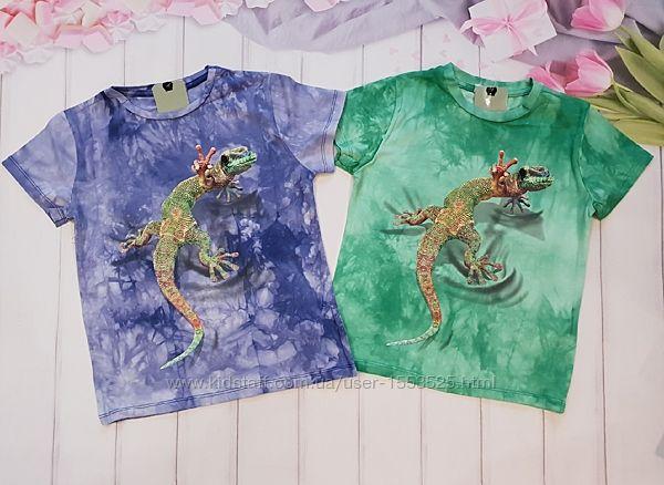 В наличии футболки для мальчишек ящерица