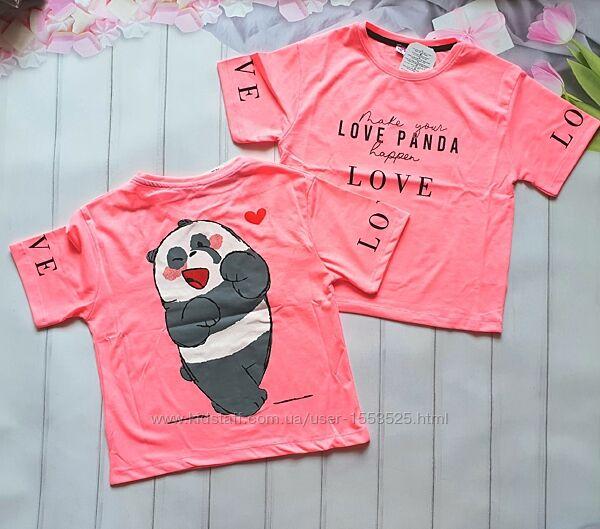 В наличии футболка панда  для девочки .