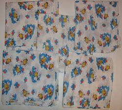 Ситцевые пеленки для новорожденных 5 шт. новые