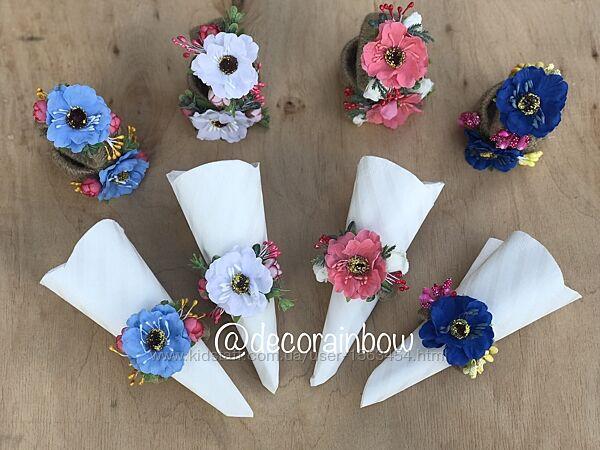 Пасхальный украшения декор для корзин/ свечей/ бокалов, кольца для салфето