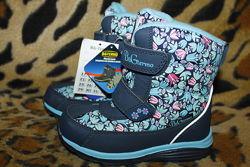 Зимние термо ботинки термосапоги сноубутсы BG для девочки р.27-32