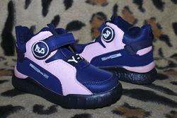 Детские демисезонные очень легкие ботинки для девочки р. 26-31