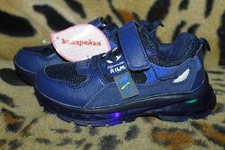 Детские LED кроссовки с подсветкой для мальчика р.26-31