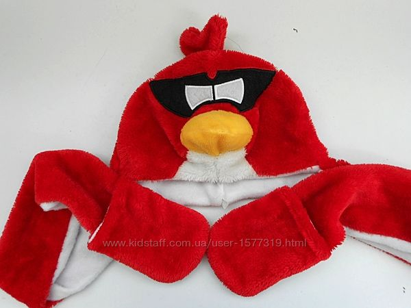 Шапка шарф Энгри бердз птица Рэд Angry Birds