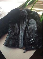 Срочно продам свою натуральную кожаную куртку с мехом козы