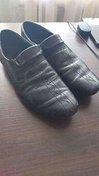 Кожаные туфли ботинки на подростка