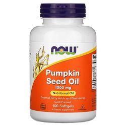 Тыквенное масло Now Foods, 1000 мг, 100 капсул
