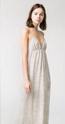 Платье-сарафан с открытой спиной Mango casual / M /  цвет серый