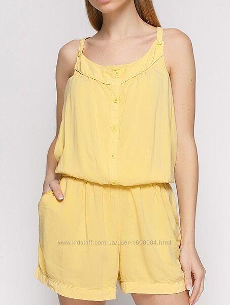 Желтый комбинезон с шортами Promod / L-XL, 42