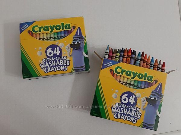 Карандаши , восковые мелки Crayola 64 шт. Ultra clean washable Крайола