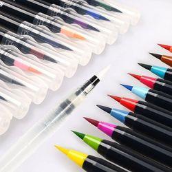 Набор акварельных маркеров Watercolor Brush - с кистью