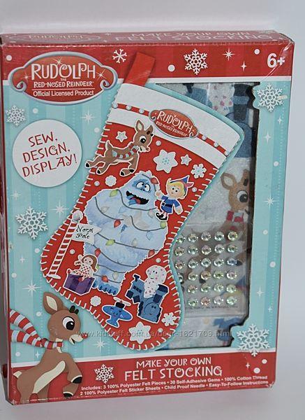новый набор укрась новогодний сапожок для подарков сам Rudolph make your ow
