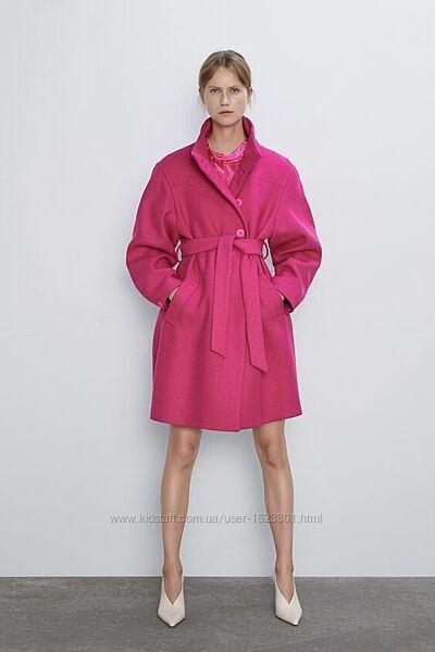 Шерстяное пальто м-л Зара