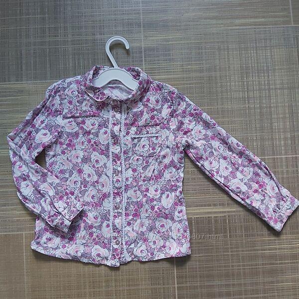 Bembi рубашка для девочки блузка сорочка детская дитяча для дівчинки