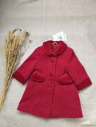 шерстяное пальто George красное демисезонное 6-12мес 1,5-2 года