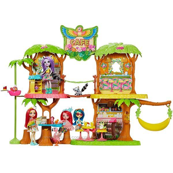 Enchantimals Тропическое джунгли кафе Энчантималс с попугаем