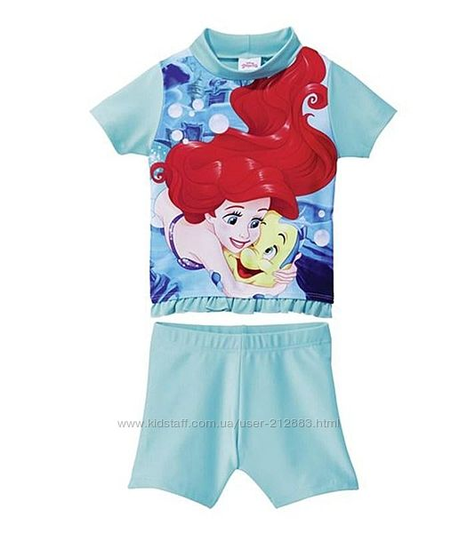 Купальный пляжный солнцезащитный костюм для девочки, купальник, Русалочка