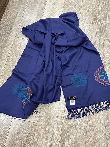 Шикарный шарф палантин, шерсть , бренд