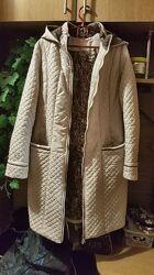 Пальто демисезонное стеганое с капюшоном Куртка з капюшоном