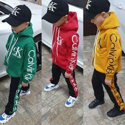 Детский теплый спортивный подростковый костюм Calvin Klein Кэлвин Кляйн Сл-