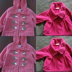 Два пальто Next 9-12мес. ,12-18мес