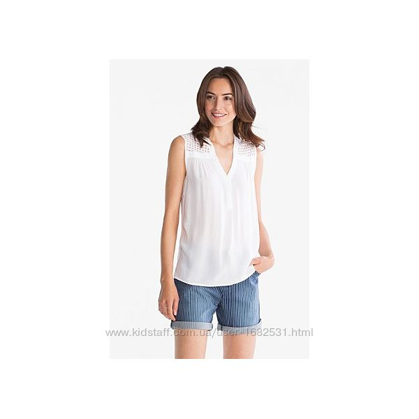 Белая легкая блуза блузка c&a универсальная s m 38 біла рубашка