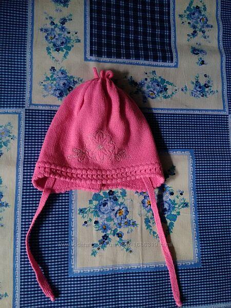 Подвійна демісезонна шапочка для дівчинки ОГ 42-44 см