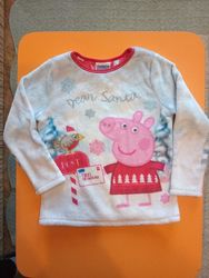 Нарядный свитер-меховушка для девочки Peppa Pig