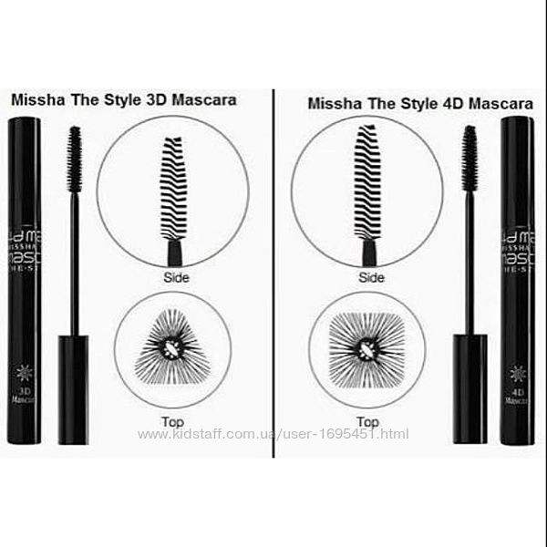MISSHA The Style 4D Mascara  корейская тушь для ресниц с эффектом 4D