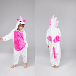 Пижама кигуруми единорог розовые и голубые крылья / кигуруми пегас