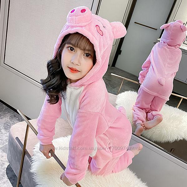 Кигуруми свинка / кігурумі поросятко/ пижама свинка пепа / костюм рожева