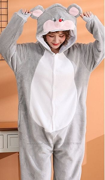 Кигуруми мышка / пижама мышонок / кігурумі мишеня / костюм серая мышка