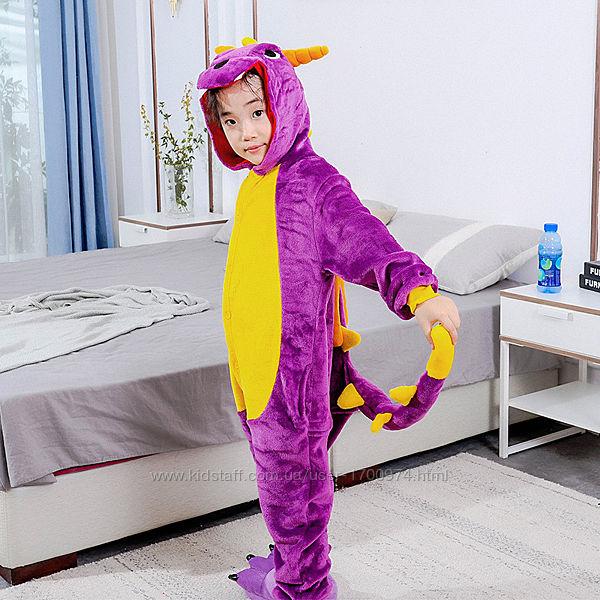 Кигуруми фиолетовый дракон Спайро / пижама кигуруми дракон спайро /