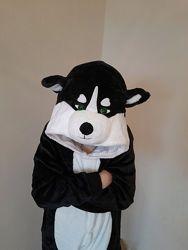 Пижама кигуруми хаски / кигуруми черная хаски кигуруми для мальчика девочки