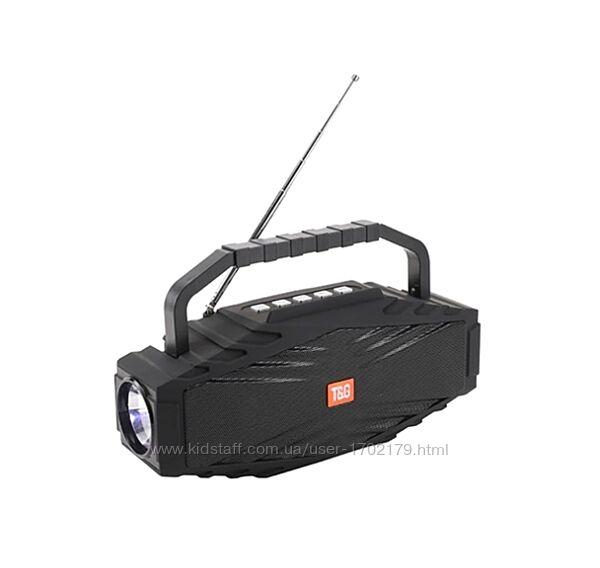 Блютуз колонка TG-804 радио FM приемник, фонарь, антена, держатель