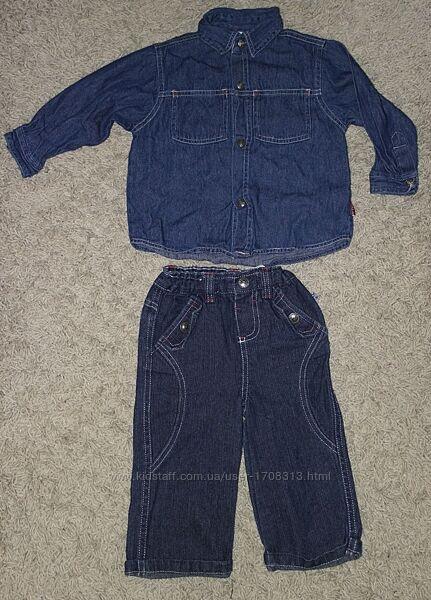 Как новые фирменные джинсы Okay 74см мальчику