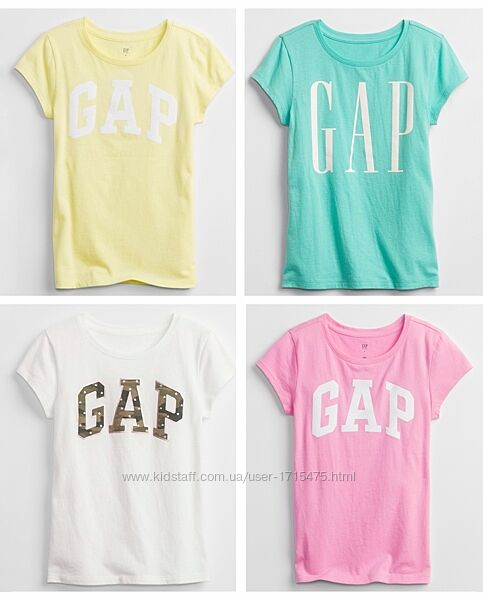 Футболки gap logo девочкам XL, XXL 12-14л, оригинал