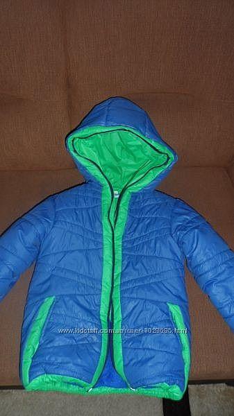 Куртка теплая осенняя для мальчиков  Одягайко р.116 на 4-5 лет