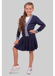 Вязаный костюм для девочек с юбкой Кэрри