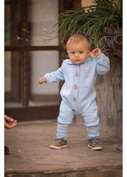 Нежный вязаный хлопковый комбинезон для малышей