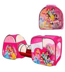 Детская двойная палатка с тоннелем, принцессы m 3776