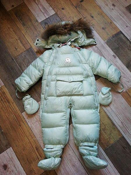 Детский зимний комбинезон трансформер Moncler р.80