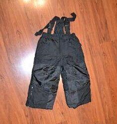 Зимние, теплые, лыжные штаны, полукомбинезон  на 2 года рост 98 см
