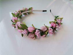 обручи ободки с цветами