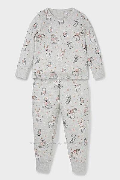 Фирменная хлопковая пижама C&A