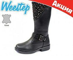 ТМ Сказка& Weestep Натуральная кожа, шерстьЗимние сапоги ботинки на девочку