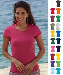 Женская футболка Тонкая 145 гм2 Хлопок Fruit of the Loom Original