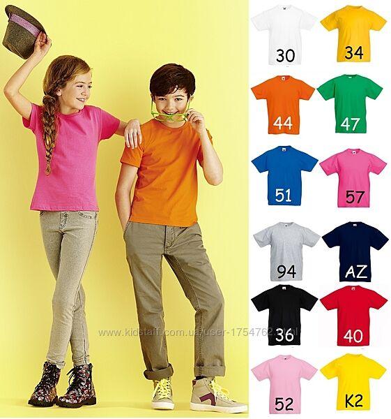 Детская футболка мягкий хлопок Sofspun приталенная Fruit of the Loom