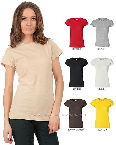 Женская футболка Gildan супермягкая 100 хлопок Softstyle